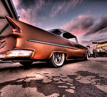 Old Chevy Belair outside car show HDR by calgecko