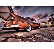 Old Chevy Belair outside car show HDR Photographic Print