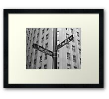 Wall Street and Broadway Framed Print