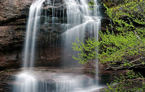Beulach Ban Falls - Detail by Stephen Beattie