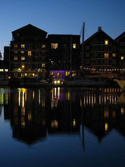 Night time at the Salthouse Hotel, Ipswich by wiggyofipswich
