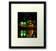 Isaacs at Night, Neptune Quay, Ipswich Framed Print