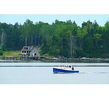 Cruiser Entering the Harbor Photographic Print