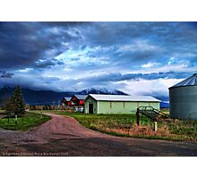 Montana Farm Photographic Print