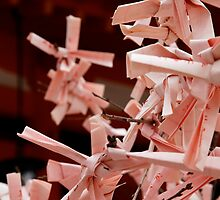 Paper Fortunes at Heianjingu by nekineko