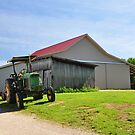 Tractor and barn by mltrue