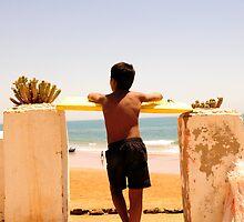 Boy Watching Surf by Katarina Podrug