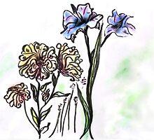 Floral Sketch by Regina Valluzzi