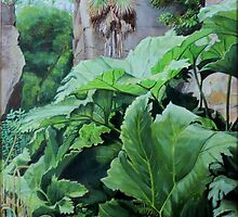 Gunnera in Quarry Gardens, Belsay by Woodie
