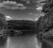 Huntsville Reservoir in B&W by Aaron Campbell
