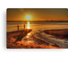 Throwing A Line Or Two Canvas Print