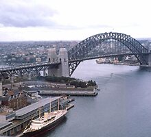 Circular Quay (West) & Harbour Bridge Sydney 1963 by Adrian Paul