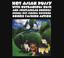 HOT ASIAN PUSSY WITH OUTRAGEOUS BUSH AND SPECTACULAR BOOBIES CHECKS OUT SERIOUS OUTDOOR DOGGIE FASHION ACTION by DilettantO