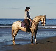 Horse and rider. by Esther's Art and Photography