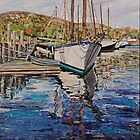 Maine Boat Reflections by Richard Nowak