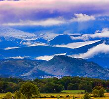 Rocky Mountain Cloud Layers by Bo Insogna