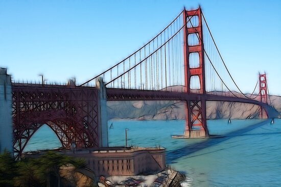golden gate bridge by Ted Petrovits