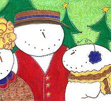 Happy Snowman Family by Cathy Moody