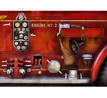 Fireman - Old Fashioned Controls Photographic Print