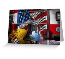 Fireman - Red Hot  Greeting Card