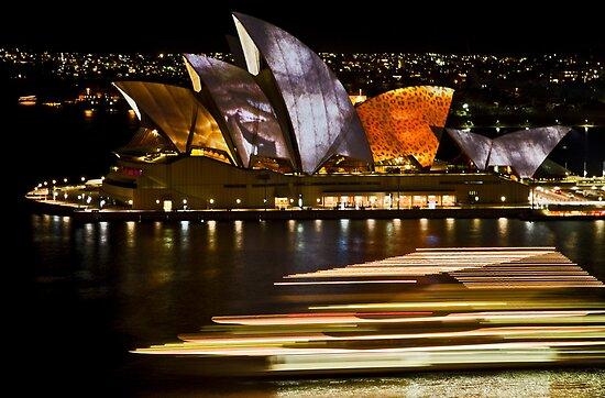 Sydney Opera House - Vivid Festival 2010 by Bryan Freeman