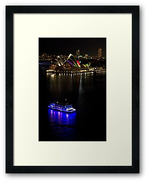 Sydney Opera House & Deep Blue - Sydney Harbour - Australia by Bryan Freeman