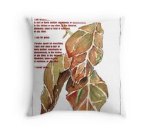 Affirmation to clear ANGER and GUILT Throw Pillow