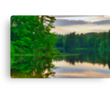 Zephyr Lake at Dusk Canvas Print