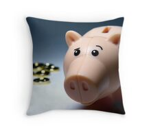 """All right, nobody look till I get my cork back in!"" Throw Pillow"