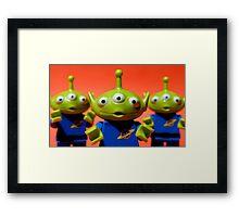 Little Green Men Framed Print