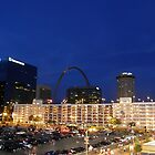 St Louis at night by Jamaboop