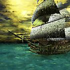 The Flying Dutchmen by Sandra Bauser Digital Art