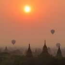 Balloons over Bagan  by Brian Bo Mei