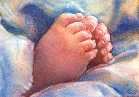 Little Feet by Yevgenia Watts