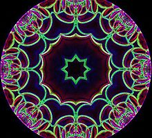 Glowing Edge Kaleidoscope by Dana Roper