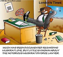 Muskrat Divorce Attorney by Londons Times Cartoons by Rick  London