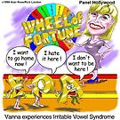 Vanna White&#x27;s Worse Day On Wheel by Londons Times Cartoons by Rick  London
