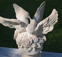 White marble doves by ♥⊱ B. Randi Bailey