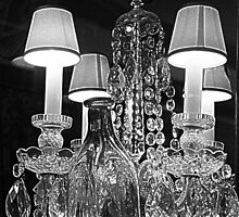 Chandelier and Bottles by PPPhotoArt