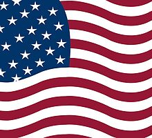 American flag vector by Laschon Robert Paul