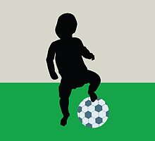 baby playing football by Laschon Robert Paul