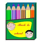 Back to school pencils by robertosch