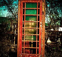 Vintage British Phone Booth by KathyBerger