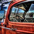 Old orange Chevy truck HDR by calgecko