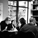 Paris cafe life by Alex Howen