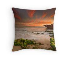 Moss Rocks Throw Pillow
