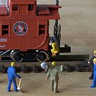 Kalli, the owner of the train was a fitness guru. The track workers agreed she had a great caboose by Susan Littlefield