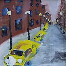 Taxi cabs NYC by Rose Robin