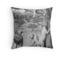 Possession - Leopard and Lions Throw Pillow