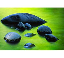 River Rocks Photographic Print